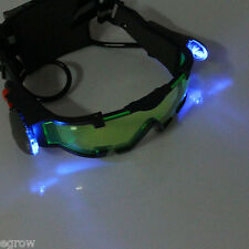 Night Vision Goggles Glasses Adjustable Elastic Bands eyeshield Green Lens