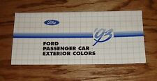 1993 Ford Passenger Car Exterior Colors Brochure 93 Mustang Thunderbird