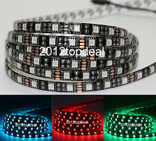 PCB Black 5M 5050 SMD RGB 300 LED Strip Decoration Light Non-Waterproof IP60
