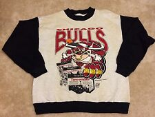 RARE Vintage Front Pages 1993 Three Peat Chicago Bulls NBA Sweatshirt Mens Med