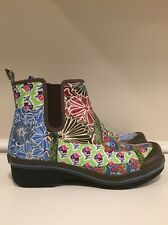 Dansko Vegan Vail Floral Print Coated Canvas Ankle Rain Boots EU 41 US 10.5-11