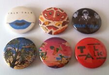 6 Talk Talk Badges 25mm 80's It's My Life Spirit of Eden Laughing Stock New Wave