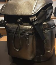 COACH Trek Pack Rucksack Backpack Men's Leather Silver Gun NWT