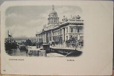 Irish Postcard CUSTOM HOUSE Dublin Ireland River Liffey Matte Photo Early udb