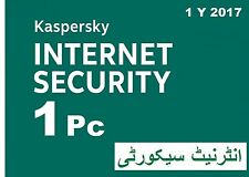 KASPERSKY INTERNET SECURITY  2017 1 PC  1 year Download 1 Jahr