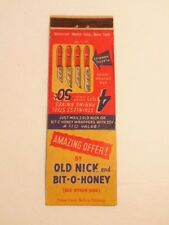 Vintage advertising matchbook cover: pairing knives - candy wrapper promotion