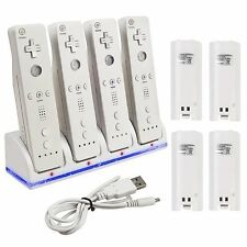 Remote Controller Charger Dock Station + 4 Rechargeable Battery for Nintendo Wii