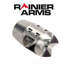 Rainier Arms Mini Compensator RMC 2.0 - 5.56/223 Muzzle Brake - Matte Stainless