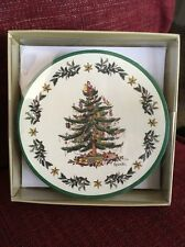 Spode Christmas Tree Round Cardboard Paper Coasters Set of 8 $12