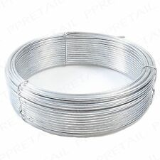 2mm EXTRA THICK HEAVY DUTY Garden Fencing Wire Cord CUT TO SIZE 20m Plant Tie