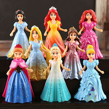 8pcs Cute Princess Action Figures Changed Dress Doll Kids Girl Toy XMAS Gift