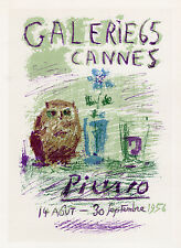 *BOGO* PICASSO Gallery 65 Cannes Exhibition Poster LITTLE OWL Framed SIGNED COA