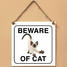 Siamese Beware of cat Targa gatto cartello ceramic tiles