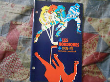 1974-75 QUEBEC NORDIQUES MEDIA GUIDE YEARBOOK WHA Hockey Col. Avalanche 1975 AD