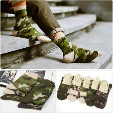 5 Pairs lot #S Mens sock 100% cotton winter warm Casual Dress Camo Socks Fashion