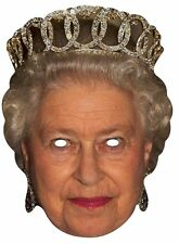Queen Elizabeth II Royal Single CARD Fun Party Face Mask. Monarch Highness 90th