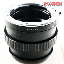 Leica R L/R lens to Olympus PEN Micro 4/3 mount adapter Macro Focusing Helicoid