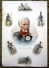 Blucher and Soldiers A Waters 1897 Art Supplement Philadelphia Inquirer Rare