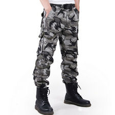 Men Casual Outdoor Military Hunting Army Cargo Camouflage Combat Pants Trousers