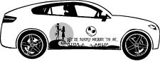 NIGHTMARE BEFORE CHRISTMAS JACK N SALLY SIDE GRAPHIC VINYL TRIBAL DECAL FOR CAR