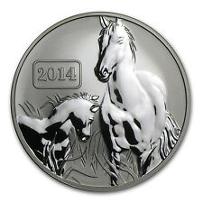2014 Tokelau 1 oz Reverse Proof Silver Lunar Year of the Horse Coin - SKU #84745