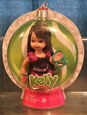 Happy Holidays Kelly 5 Inch Doll / Xmas Tree Ornament Nrfb Mattel Brunette
