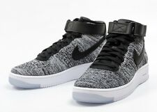 NIKE AF1 AIR FORCE 1 ULTRA FLYKNIT mid noir blanc taille uk 6 eu 40 neuf