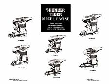 THUNDER TIGER  Model Engine Info Sheets ~ Parts List & Numbers