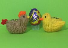 KNITTING PATTERN - Easter Hen and Chick chocolate cover fits Creme Egg