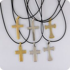 6x English Bible Lord's Prayer Cross Stainless Steel Pendant Christian Catholic