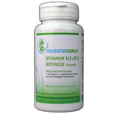 Vitamine K2 + D3 + Algue rouge (90 Gélules) - de Tausendkraut