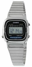 Casio LA670WA-1 Women's Metal Band Vintage Silver Tone Digital Watch