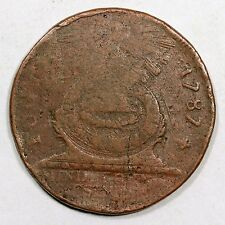 1787 N- 1L R-5 Cross After Date Fugio Colonial Copper Coin