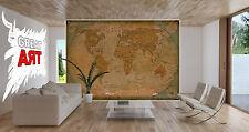 Atlas Globus Weltkarte XXL Fototapete Wohnzimmer Wanddekoration