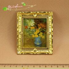 1/12 Dollhouse Miniature painting 19th century fresco/ gold frame picture/photo