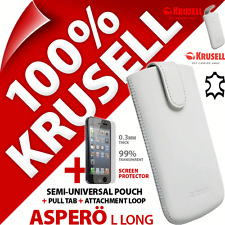 New Krusell Aspero L Long Genuine Leather Case + iPhone 5 / 5S Screen Protector