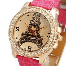 Noble Golden Jelly PARIS TOWER Dial Design Fashion Girl Women Watch Vintage Case