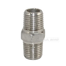 "1/4"" Male x 1/4""  Male Hex Nipple Stainless Steel 304 Threaded Pipe Fitting NPT"