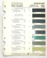 1950 CADILLAC SHERWIN WILLIAMS COLOR PAINT CHIP CHART ALL MODELS ORIGINAL