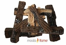 10-Piece Set of Ceramic Wood Fire/Fireplace Logs - Ethanol Electric Gas Firepit