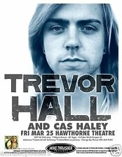 TREVOR HALL / CAS HALEY 2011 PORTLAND  CONCERT TOUR POSTER - Reggae Rock Music