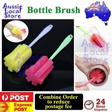 Sponge Brush Bottle Cup Glass Washing Cleaning Kitchen Tube Cleaner Soft Tool