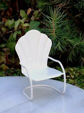 Miniature Dollhouse FAIRY GARDEN Furniture ~ Mini White Metal Glider Chair ~ NEW