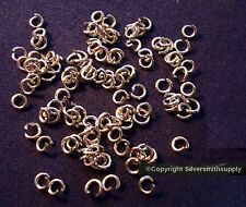 3mm White gold plated heavy gauge open jump rings 100 piece lot fpj030