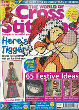 THE WORLD OF CROSS STITCHING # 79 - TIGGER - CHRISTMAS - ORIENTAL - BENGRY BEAR