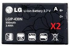2 NEW OEM LGIP-430N BATTERY FOR UN430 WINE II, GS390 PRIME, LX290, LX290C, LN240