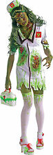 Para Mujer Biohazard Zombie Enfermera Halloween Fancy Dress Costume Talla 12 - 14 p7813