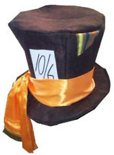 MAD HATTER STYLE TOP HAT. GREAT FANCY DRESS WONDERLAND TEA PARTY COSTUME HAT