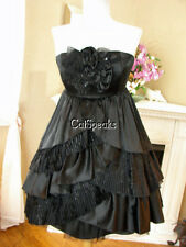 NWT BETSEY JOHNSON COCKTAIL BLACK CAN CAN DRESS~4 **SA;E**