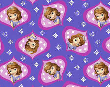 FAT QUARTER DISNEY JUNIOR PRINCESS   SOFIA SOPHIA THE FIRST OGEE  ROYALTY FABRIC